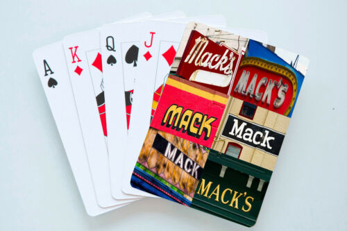 Personalized Playing Cards featuring MACK in photos of actual signs
