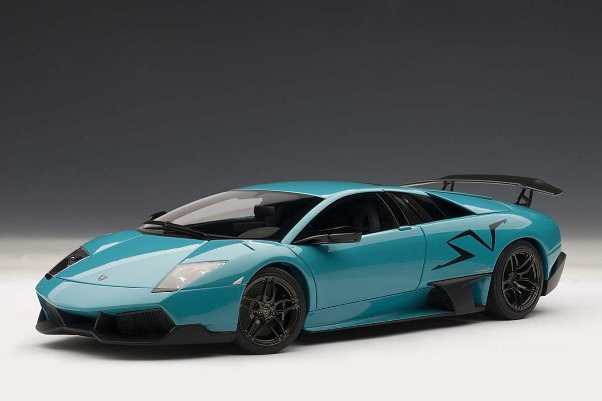 Lamborghini Murcielago LP670-4 SV Bleu Turquoise Autoart 1 18  74615 NEUF