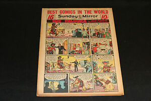1951 Sunday Mirror Weekly Comic Section April 29th (Fine+) Superman King Aroo