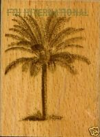 Palm Tree Anna Griffin Wood Mount Rubber Stamp 580h20, Tropical Holiday,