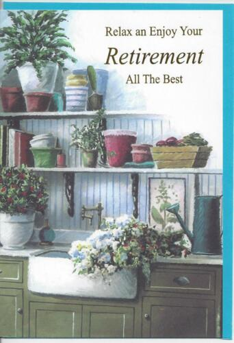 NEW Quality Retirement Card Male Gardening Flowers