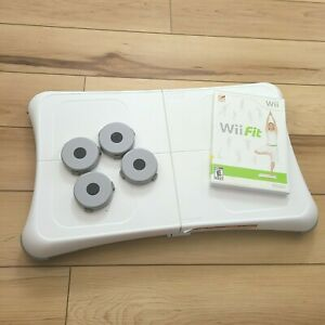 Wii Fit Balance Board & Wii Fit 2008 Game Risers Bundle RVL-021 Nintendo Tested
