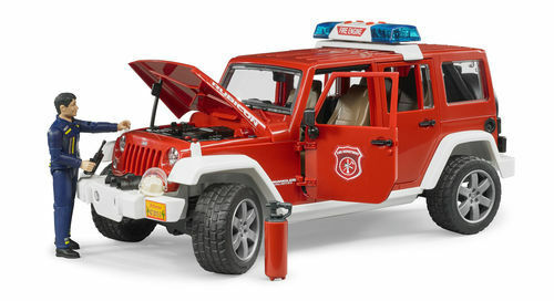 Bruder Jeep Wrangler Unlimited Rubicon fire department vehicle with fireman 1 16