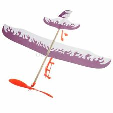 Foam Elastic Powered Glider Plane Thunderbird Kit Flying Model Aircraft Toy New