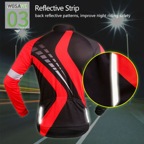 Mens Long Sleeve Cycling Jersey Pants Set Breathable Bike Bicycle Padded Tights