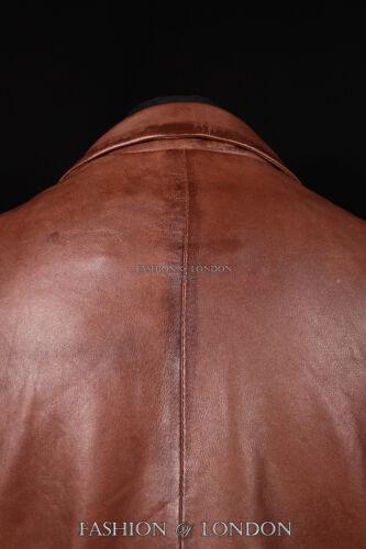 RICHMOND Men/'s Classic 2 Button Leather Blazer Jacket Formal Coat Brown 9124