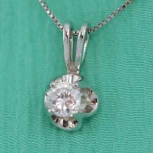 0-50-CT-Round-Cut-Diamond-Solitaire-Pendant-Tulip-Necklace-14k-White-Gold-GP-18-034