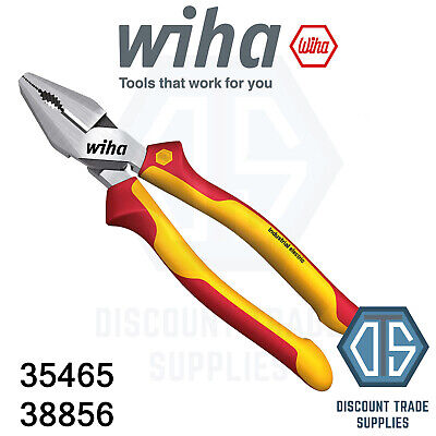 FREE P/&P Wiha 38856 High Leverage Combination Pliers 225mm VDE Insulated 35465