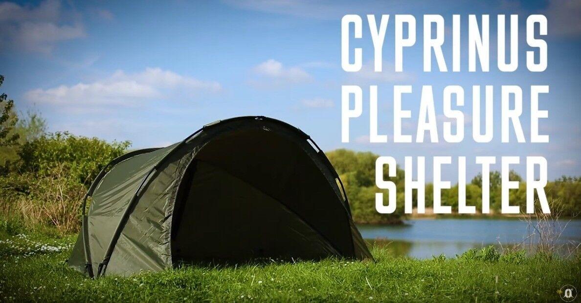 Cyprinus ™ 1 Homme Carpe Pêche Bivouac Abri Abri Abri Tente avec tapis de sol, piquets et Polonais 7128c4