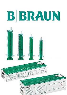 100 Braun Injekt  Einmalspritzen Luer 2, 5, 10 oder 20 ml Einwegspritzen