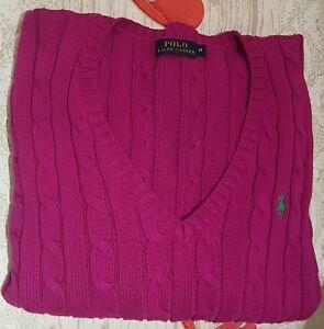 prezzo più basso 4763e 6a0cf Dettagli su POLO RALPH LAUREN maglione Donna
