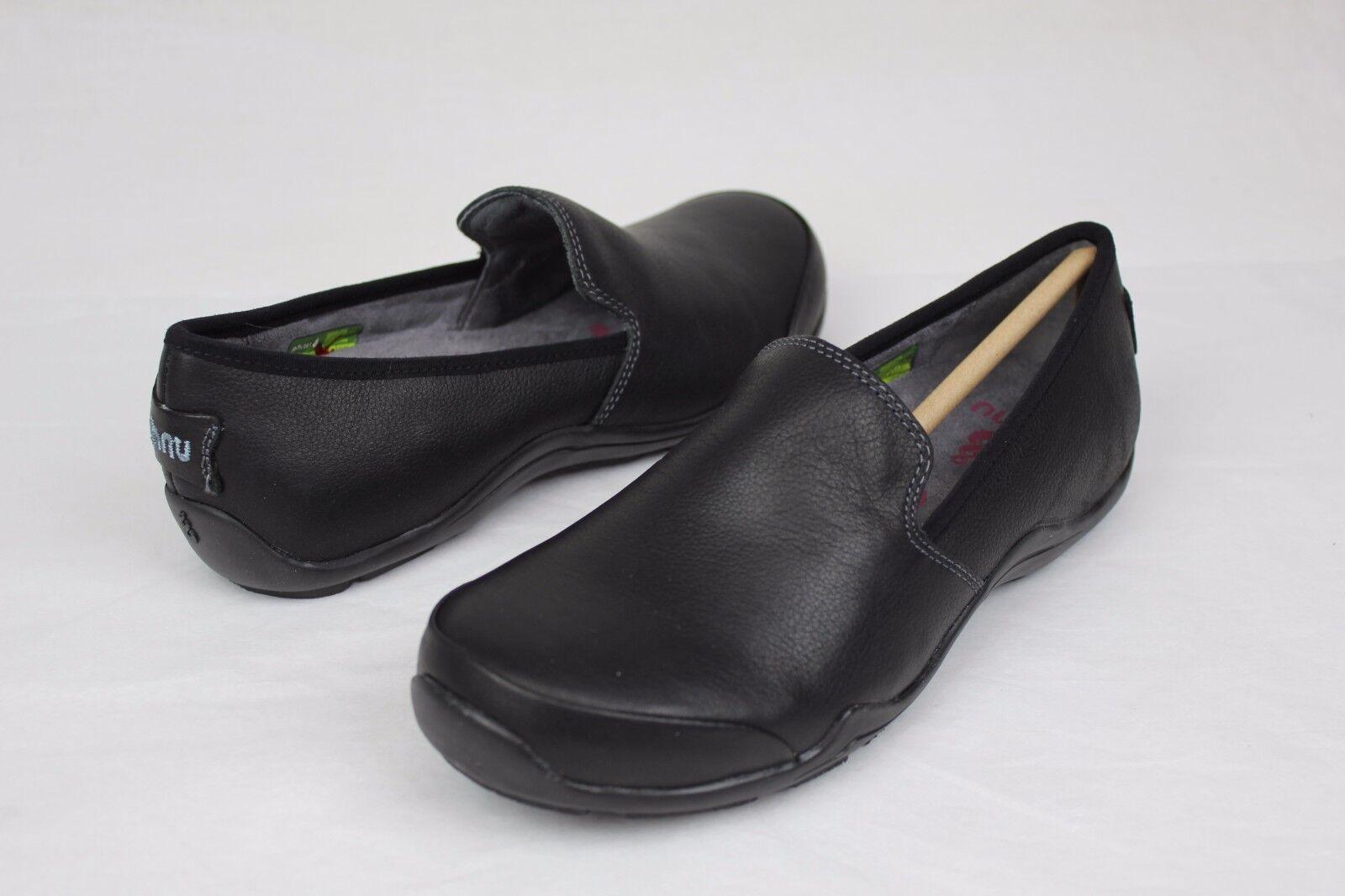 Ahnu para Mujeres Cuero Negro Negro Cuero Penny Pro Zapato EE. UU. ea1146