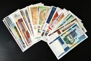 Lot-10pcs-Bundle-All-Different-Countries-Europe-Asian-Currency-Banknotes-Unc-Set
