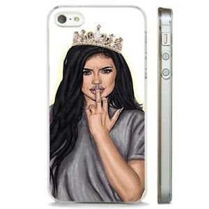 on sale 84246 065d7 Details about Kylie Jenner Finger Up Kardashian CLEAR PHONE CASE COVER fits  iPHONE 5 6 7 8 X