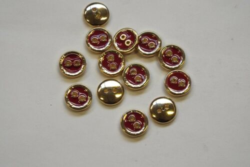 10pc 11mm bright gold et Postbox chemise rouge cardigan knitwear kid bouton 0845