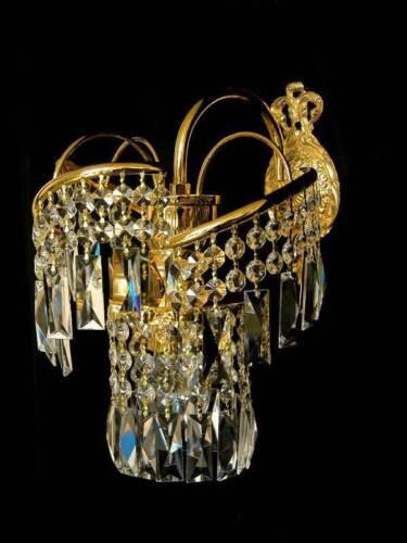 N Cristal murale éclairage véritable bleikristall doré de lustre v