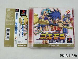 Goemon-Shin-Sedai-Shuumei-Playstation-1-Japanese-Import-PS1-JP-Japan-US-Seller-B