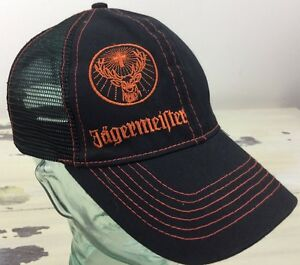 cd410e3acfe Image is loading JAGERMEISTER-Black-Mesh-SnapBack-Trucker-Hat-Cap-MUST-