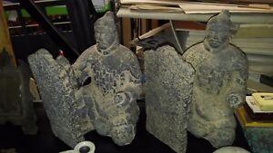 COPPIA-STATUE-SCULTURE-SAMURAI-FERMA-LIBRI-ANTIKIDEA