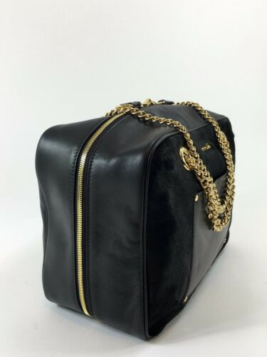 Print Italian Leopard Innue Handbag Luxury Camera Women's Fur Reversible w6q4dZX