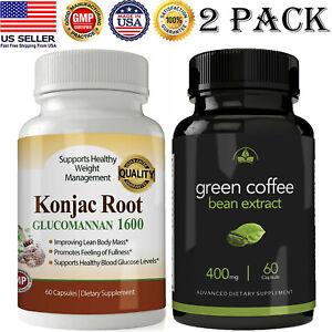 Konjac Glucomannan Root Caps Green Coffee Beans Weight Loss Pills