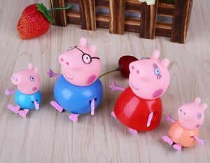 Lot-4-Figurines-Personnages-Famille-PEPPA-PIG-articulees-NEUF-ENVOI-OFFERT