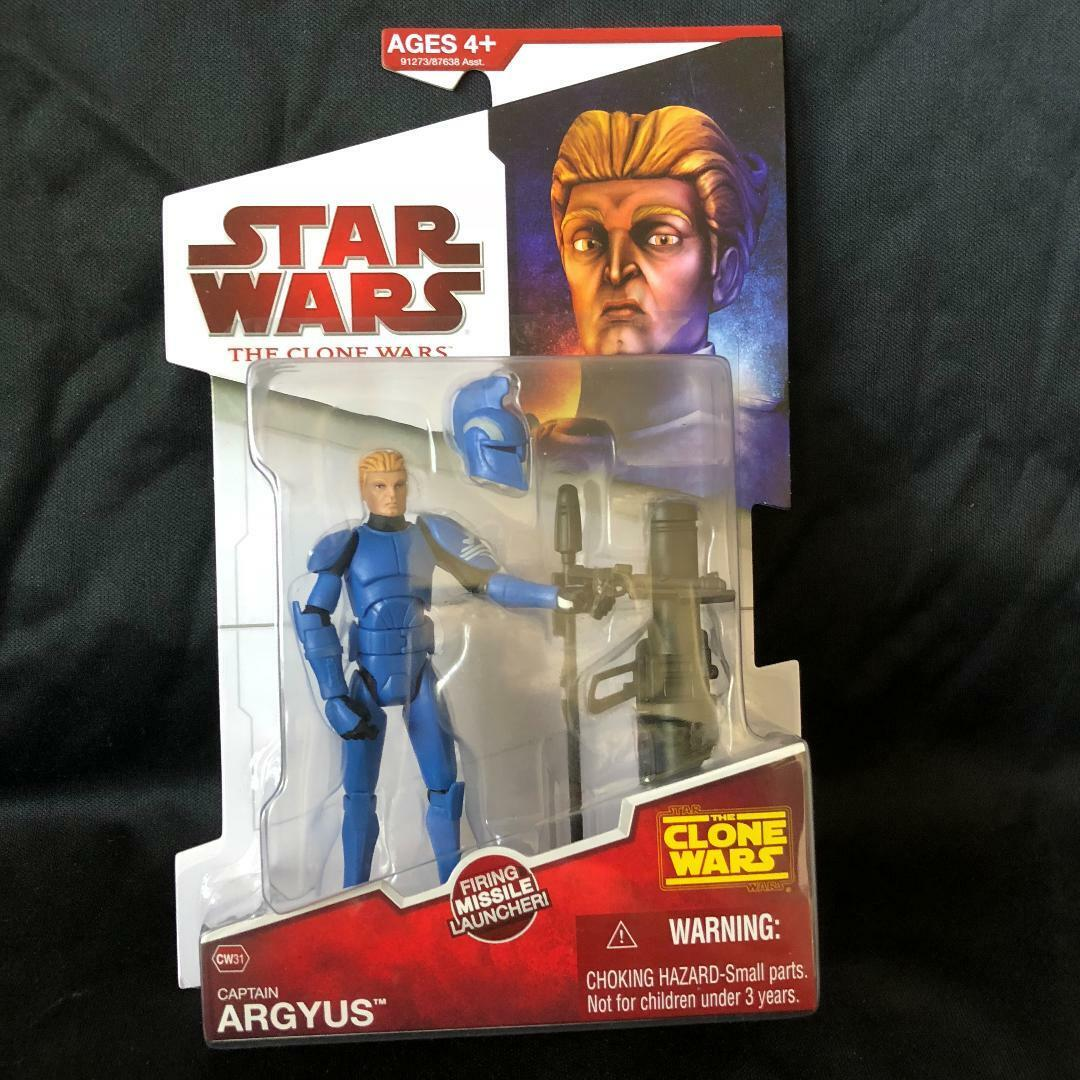 Star Wars The Clone Wars CAPTAIN ARGYUS with Firing Missile NEW 2009 CW31