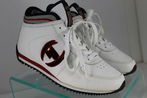 Phat Farm White Leather Athletic Sneakers Tennis Shoes Womens Sz 9 Ebay