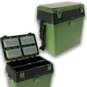 NGT-Verde-SEAT-BOX-Storage-System-FLY-grossolana-Mare-Pesca-della-Carpa-Tackle-Box