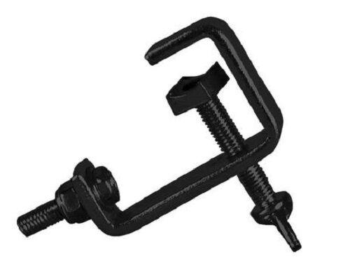 8 x Black 25mm Hook G Clamp Lighting Stand fits Equinox DJ Booth Micron Gorilla