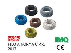 FS17-EX-N07VK-CAVO-UNIPOLARE-6-MMQ-VARI-COLORI-E-METRATURE