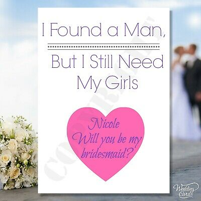Will you be my Junior Bridesmaid A6 Personalised Wedding Proposal card