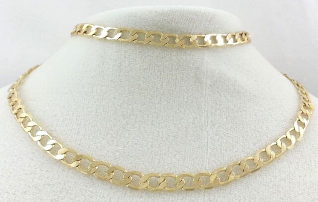 Cuban Link Chain For Sale >> Real 14k Gold Filled Thin Flat Hammered Cuban Link Chain Necklace 24 6mm Stamp