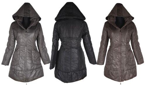 Donna Inverno Palloncino Giacca Piumino trapuntato cappotto parka cappuccio 38 40 42 44 M L BEIGE