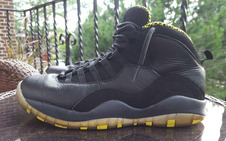 Nike air jordan x 10 retrò dieci, nero / veleno verde, 310805-033, uomo