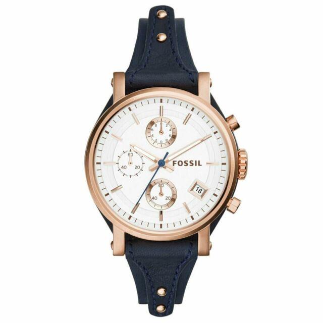Fossil ES3838 Boyfriend Chronograph Silver Dial Ladies Watch
