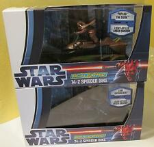 Scalextric 1/32 Star Wars Luke Skywalker and Paploo the Ewok Speeder Bikes MIB