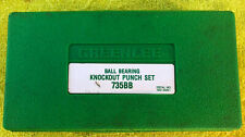 Greenlee No 735bb Ball Bearing Knockout Punch Set 12 Inch 1 14 Inch Punches