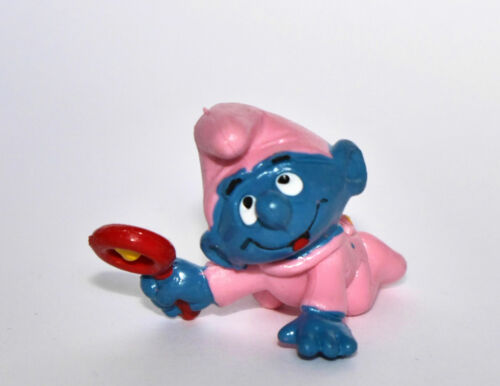 """/""""BABY PUFFO ROSA/"""" Schleich-SMURF-NUOVO-NEW! /"""" Pink Baby with Rattle/"""" 20202"""