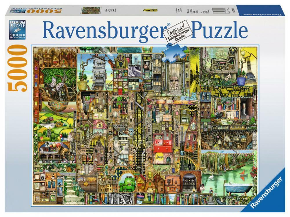 Ravensburger 17430 Colin Thompson's Bizarre Town 5000 Piece Jigsaw Puzzle - New