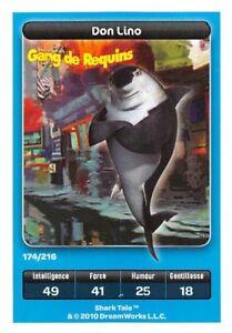 Karte-carrefour-DreamWorks-Bande-von-Requins-don-Lino-Nr-174