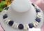 14mm-Natuerliche-Blaue-Muenze-Lapislazuli-amp-Weisse-Biwa-Perlenkette-18-039-039 Indexbild 1