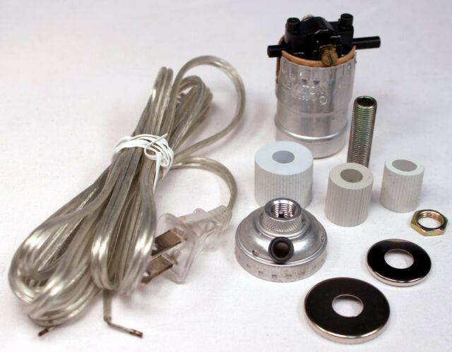 silver make a lamp wiring kit for wine oil bottle lamp conversion or rh ebay com lamp rewire kits lamp wiring kit lowes