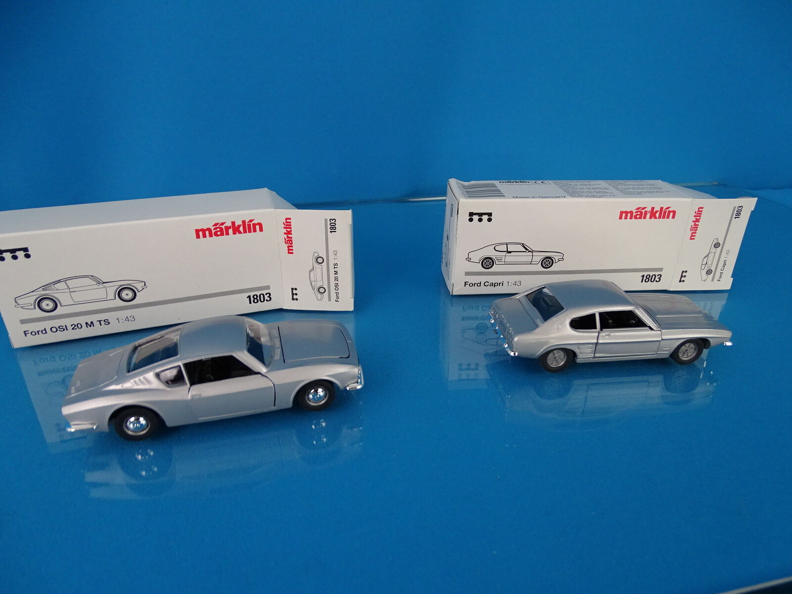 Marklin 1803 Set of 2 cars scale 1 43 Blank metal FORD