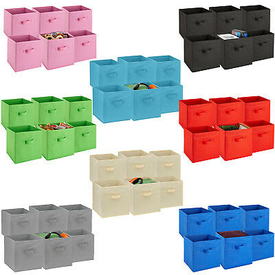 6 Pack Foldable Storage Cube Basket Bins Shelf Organizer Cloth Container Drawers & 6 Pack Foldable Storage Cube Basket Bins Shelf Organizer Cloth ...