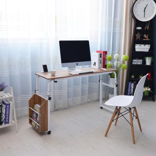 Adjustable Laptop Table Stand Folding Computer Desk Storage Shelf Sofa Bed Tray