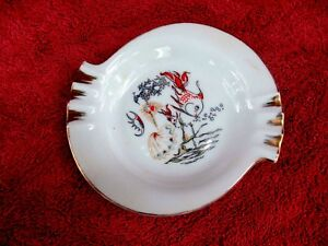 SMALL-PORCELAIN-UNBRANDED-FISH-ASHTRAY-15cm