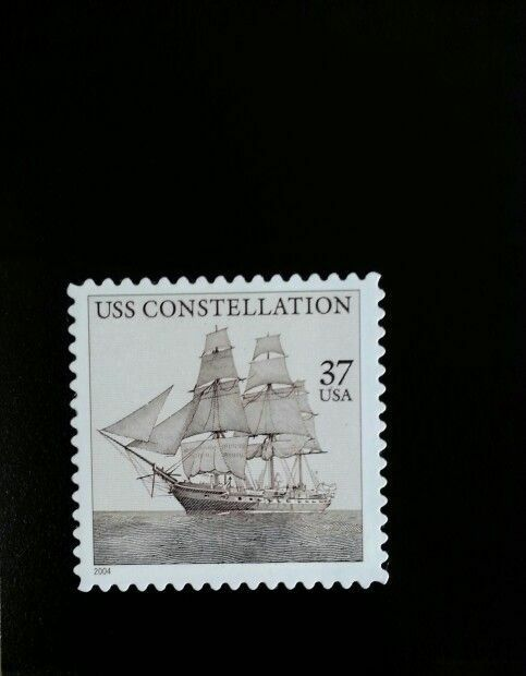 2004 37c USS Constellation, 150th Anniversary Scott 386