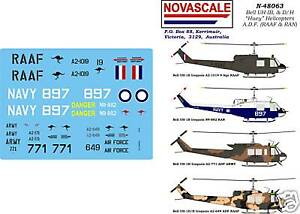 ADF-UH-1B-D-amp-H-Iroquois-034-Huey-034-Decals-1-48-Scale-N48063