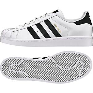 Detalles de Adidas Originals Superstar Foundation Blanco Negro [C77124]